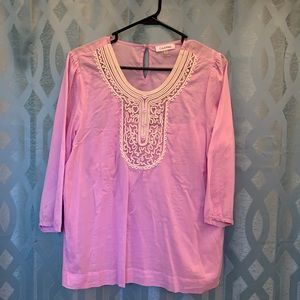 Calvin Klein Women's size large two piece top pink